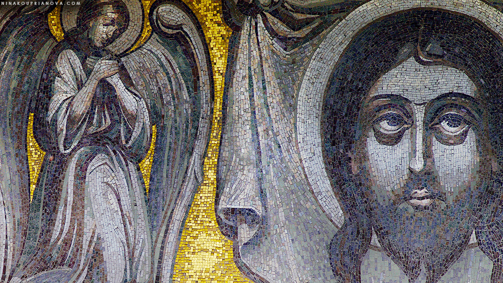 External mosaic from the Greater Church of the Ascension (Moscow, Russia)