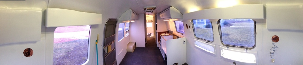 The interior is starting to come together.