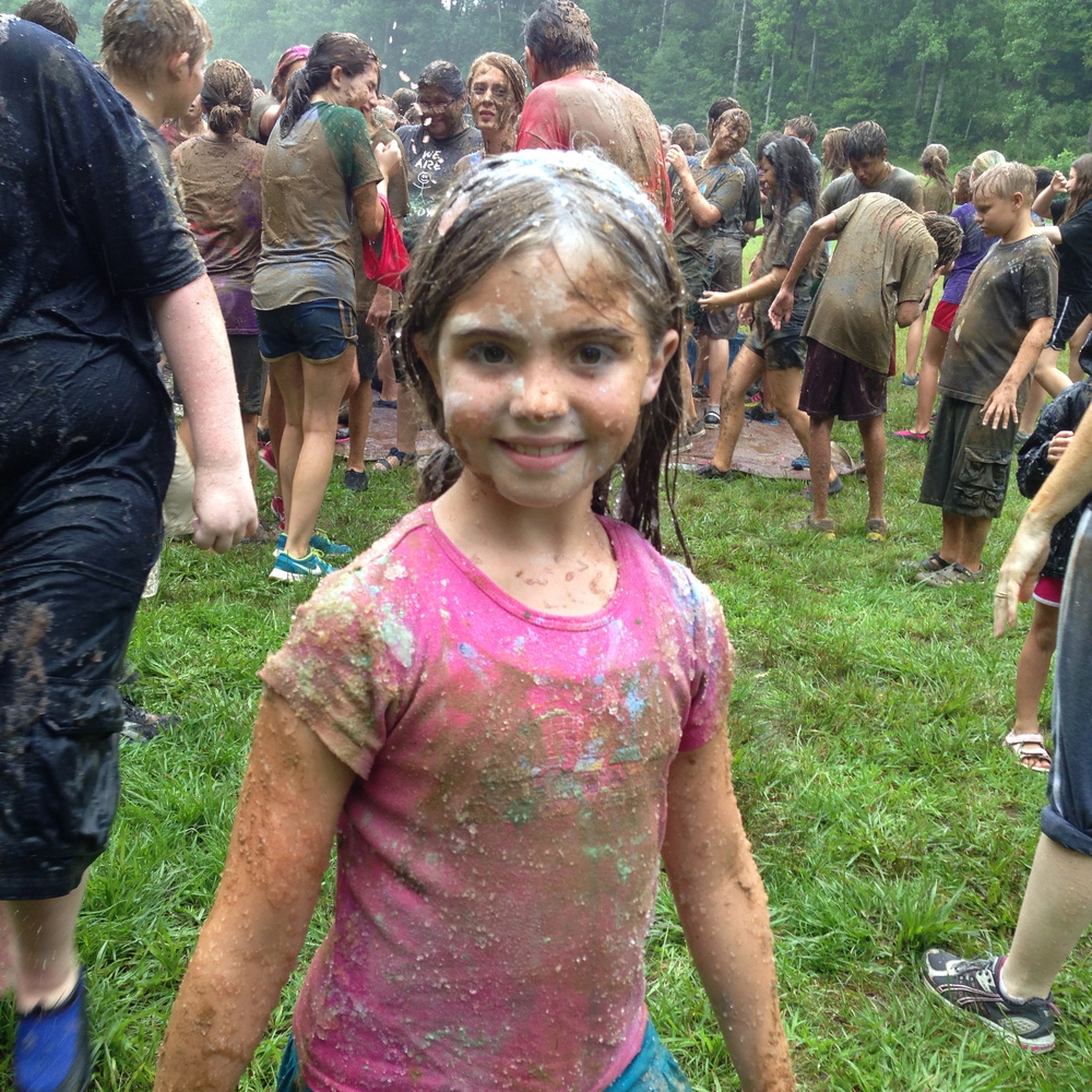 Annie having fun in the messy games.  Photo by Dylan Himmerich