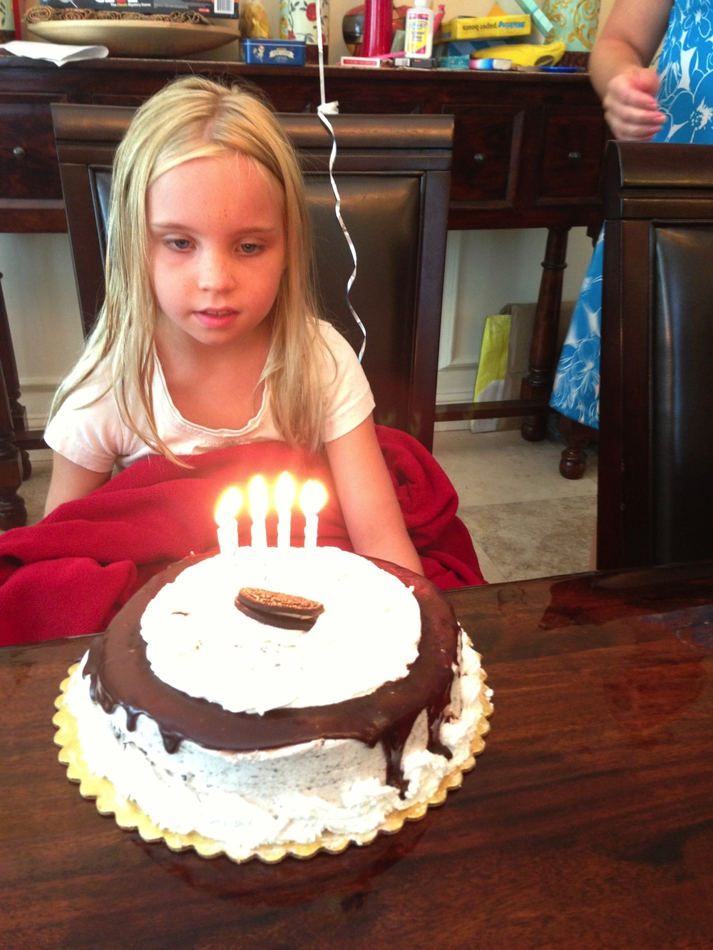 Trinity's birthday... even though she was sick with the flu!