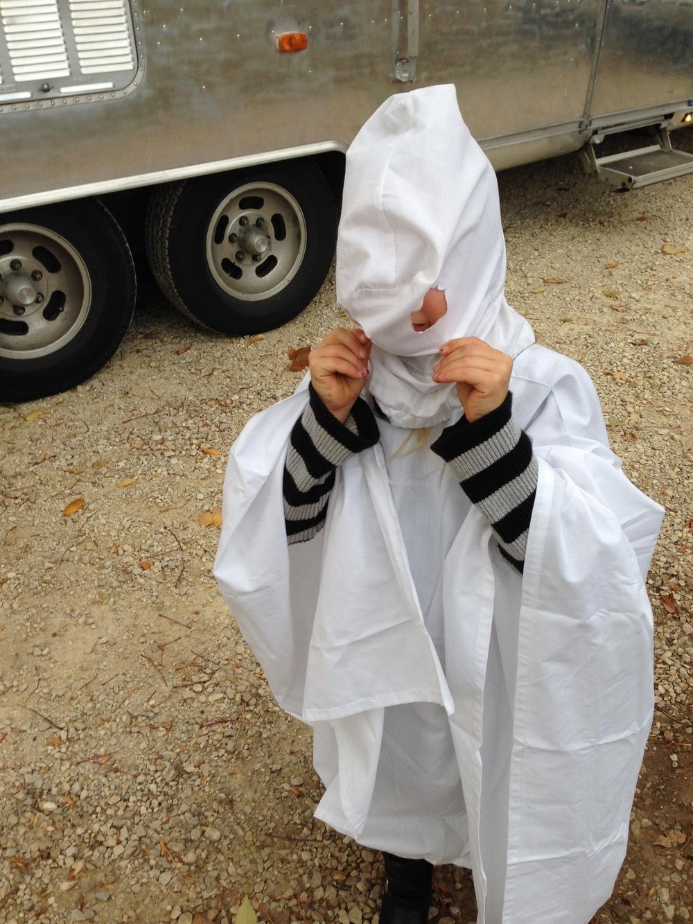 A Ghost (not a KKK member).