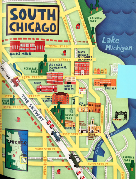 A. Skwish (USA) Skwish.com Title: South Chicago map Publication: Catalyst