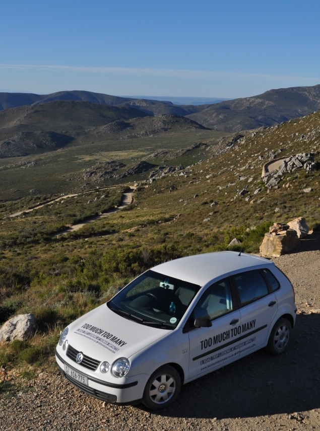The Too-Much-Too-Many-mobile at the top of the Swartberg Pass