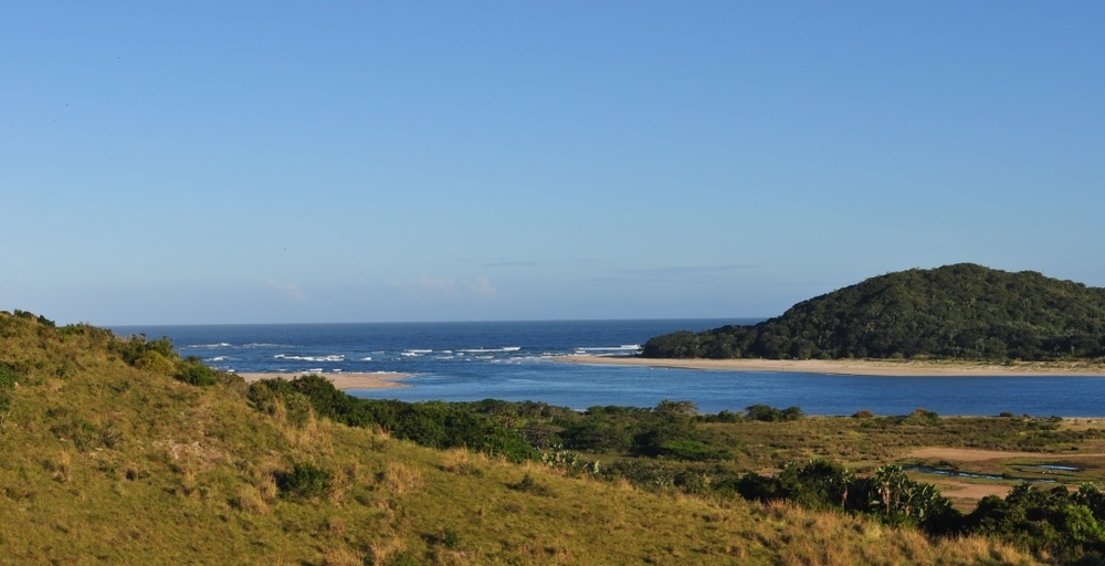 One of the Wild Coast's many river mouths