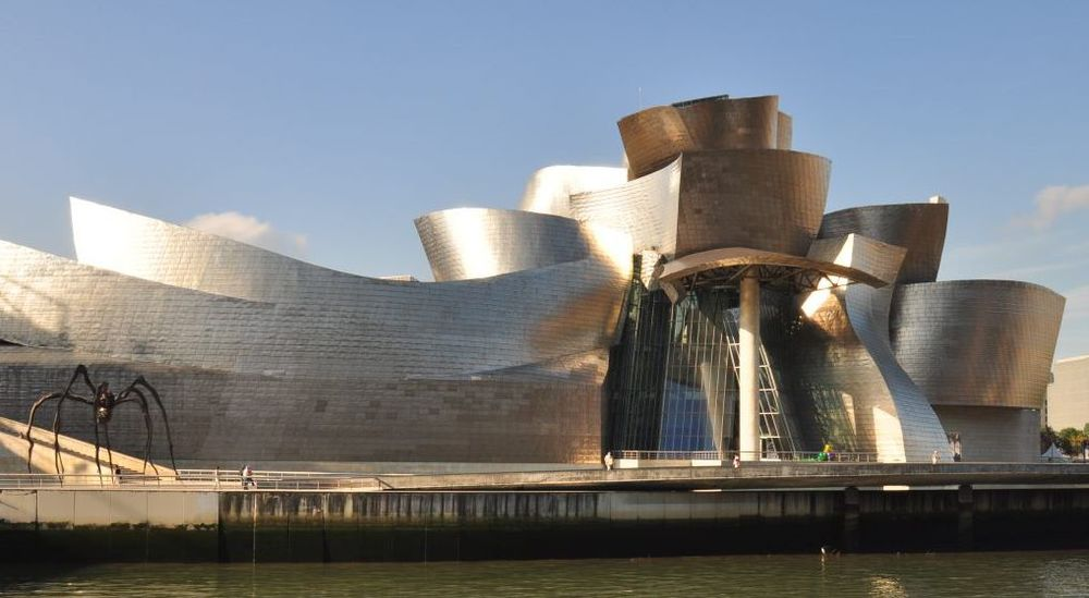 Bilbao's Guggenheim gallery, covered in titanium
