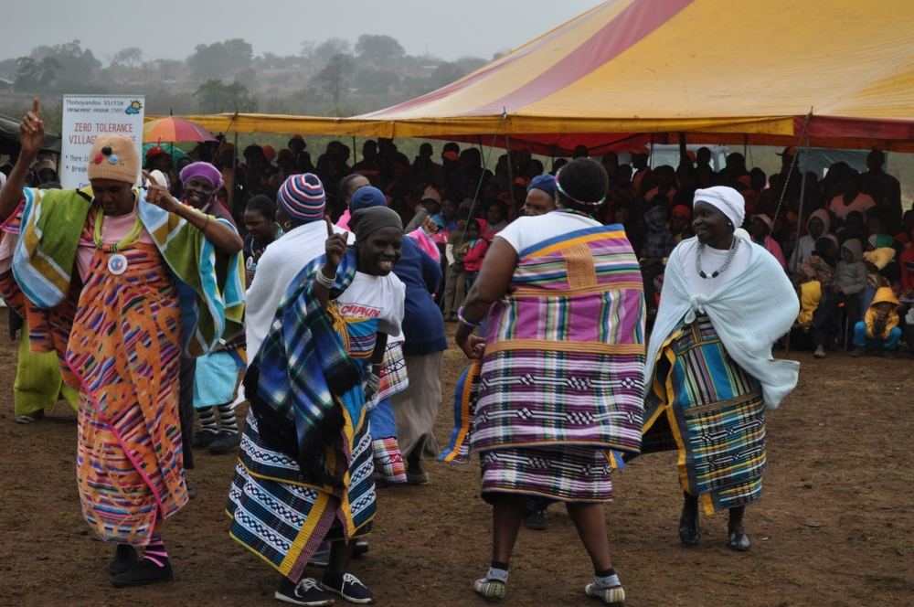 A celebratory ceremony in Venda marking a women's rights initiative