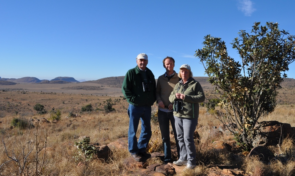 With my parents out in the veld at Welgevonden