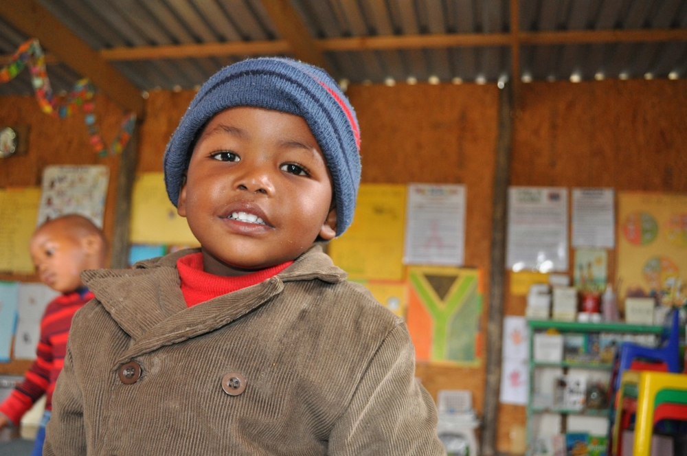 One of the children benefiting from the work of Phakamisa Projects
