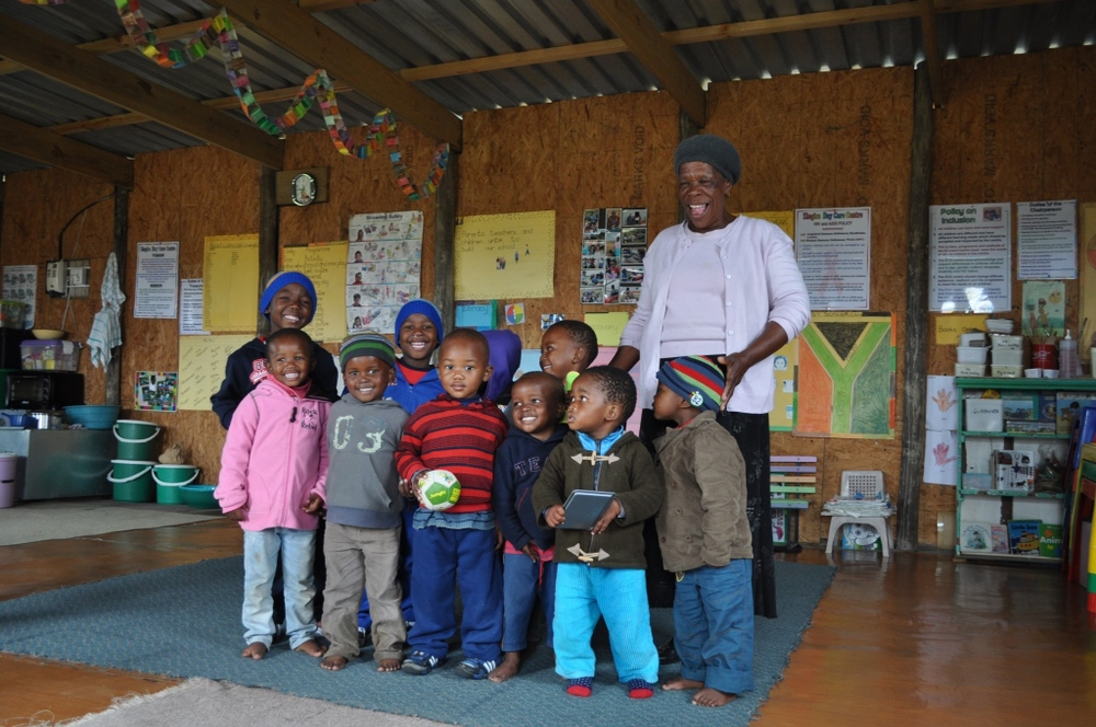 Inside one of the ECD facilities funded by Phakamisa Projects
