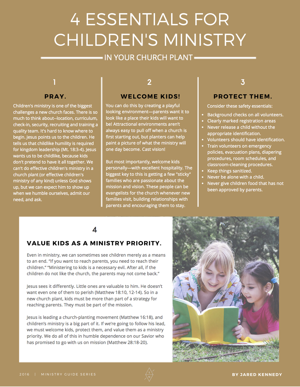 4 Essentials for Children's Ministry In Your Church Plant By Jared Kennedy
