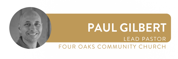 Paul is the lead pastor at  Four Oaks Community Church  in Tallahassee, Florida. He will be leading a breakout at our upcoming  Leader's Summit . You can follow him on Twitter  @revgilbert .
