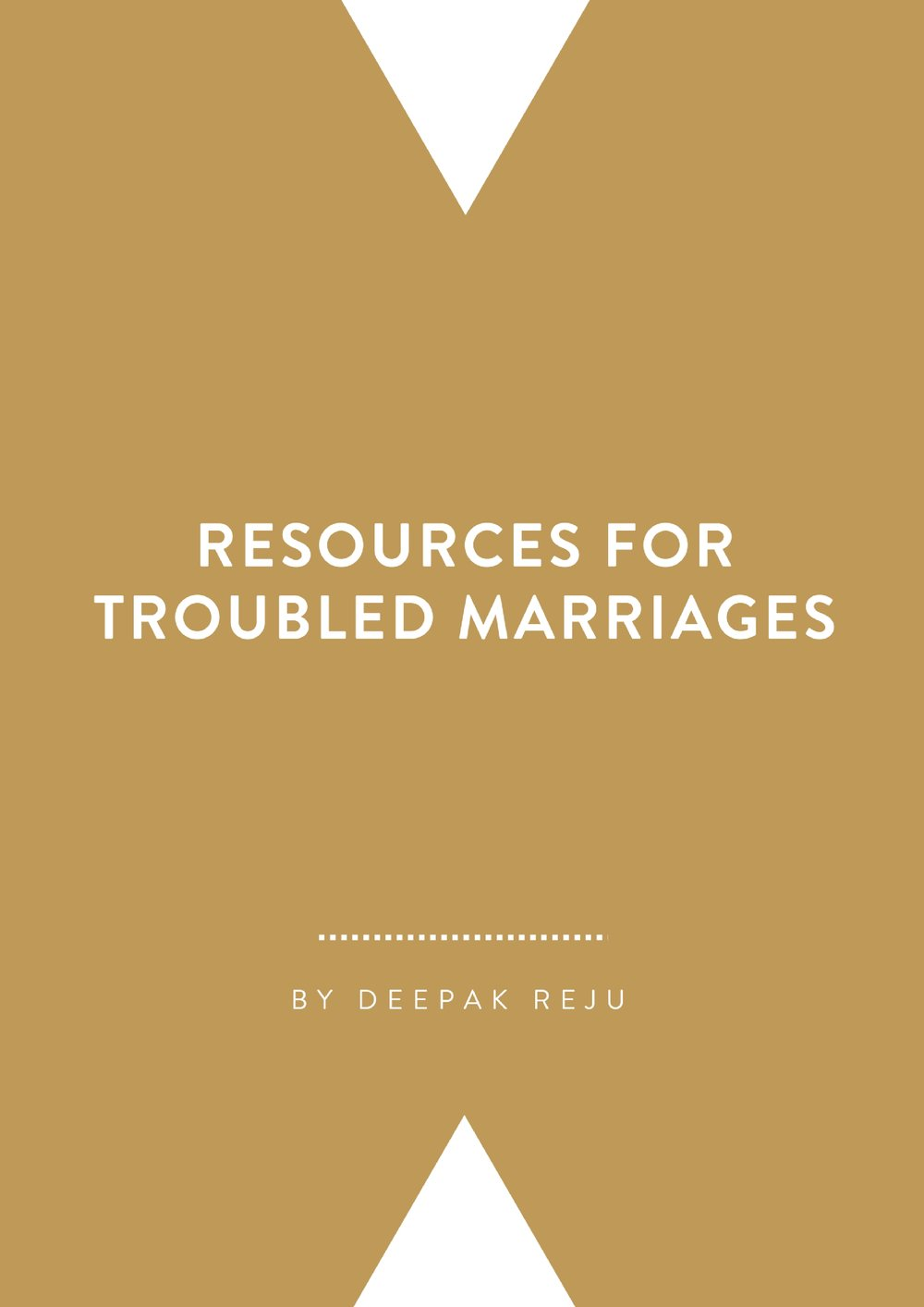 Resources for Troubled Marriages   By Deepak Reju