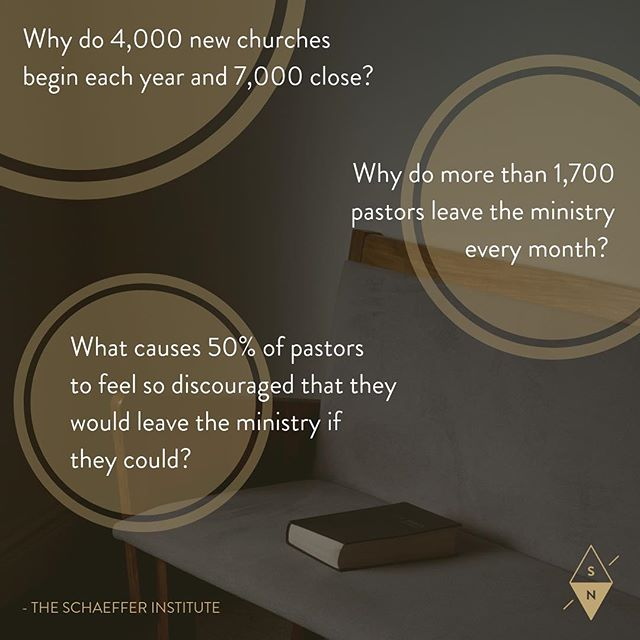 Why will 50% of the ministers starting out today not last 5 years? - The Schaeffer Institute • One key question we want to highlight during our Leaders' Summit is this: whether you're a preaching pastor, worship director, youth leader, executive pastor, Sunday school teacher, women's ministry director, or any other kind of leader, what does it take to sustain a ministry in such a way that it will flourish for the long haul? • We'll explore the reality of sin and the impact of grace, learn how to minister as human beings, addressing the reality of our weakness and frailty in light of the gospel, and hear the stories of those who have gone before us. • Won't you join us, October 23-25 in Louisville? We hope to see you there. [Link in bio]