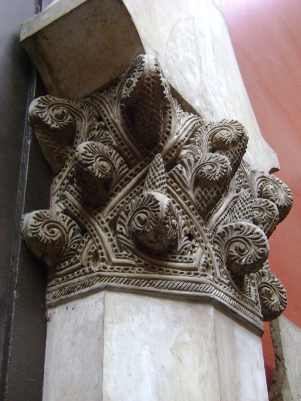 Unusual column capital.