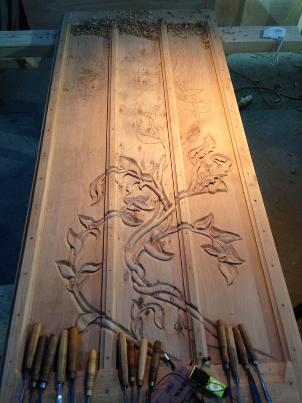 Half way through my door carving.
