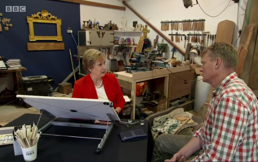 A visit from the BBC - Ok I was only featured for 1.5 seconds but Patricia Lovett from the Heritage Crafts Association did a fine job of defending our traditional crafts with my workshop as a background.