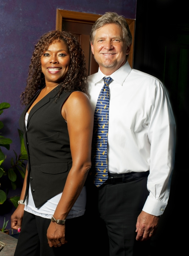 Attorneys Rex Decker and Jeannette Woods, Founders of the Decker & Woods Law Firm in Chandler, AZ.