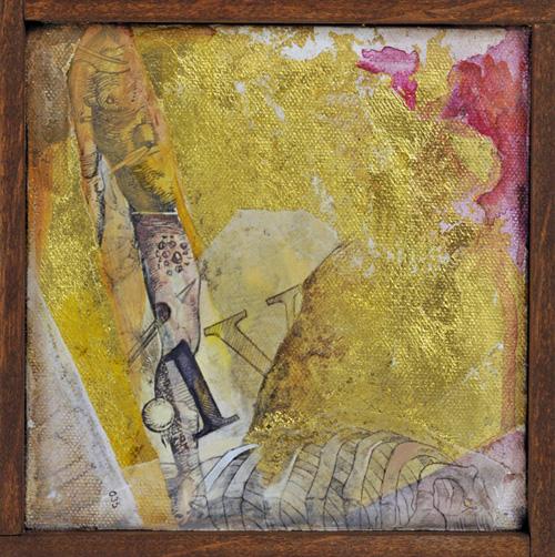 Fragments , mixed media on canvas, 2012