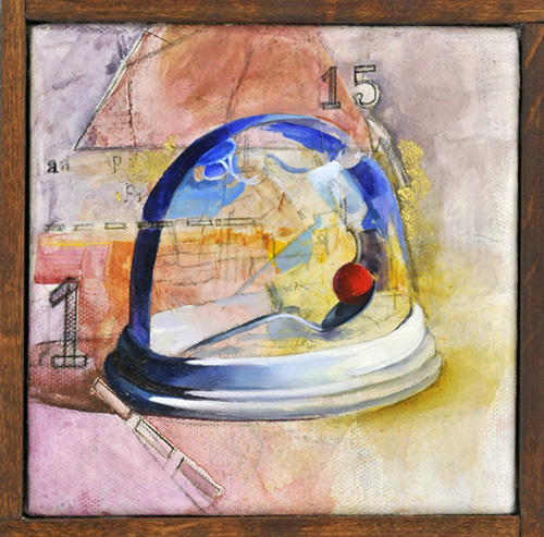 K. O'Keefe, mixed media on canvas, 2012