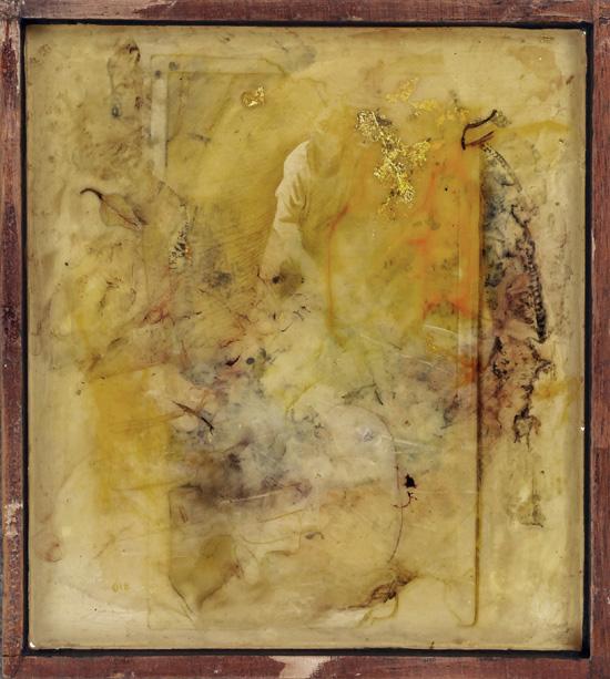 P. McDevitt, mixed media in resin, 2012