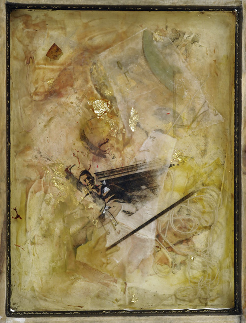 L. Mallea , mixed media in resin, 2012