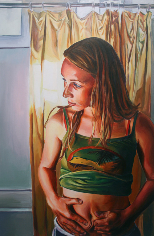 Sarah, acrylic on canvas, 2009