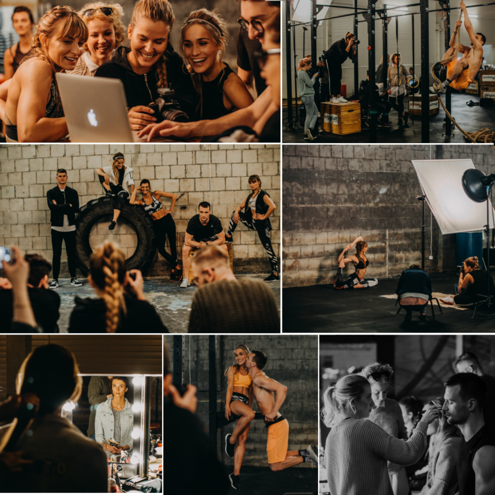 Backstage for Arla Protein from our photo shoot production. Photo: Marta Brodziak.