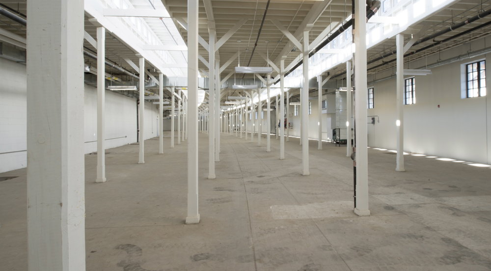 This is a view of the as-yet undeveloped space at the Museum's 22,000 square foot site