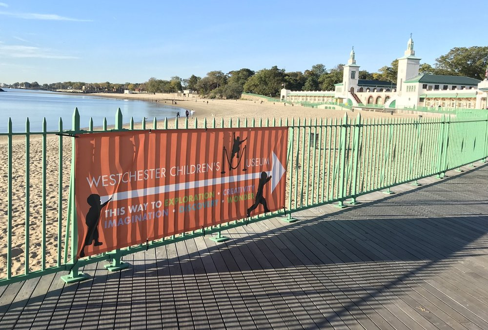 Park in the Main Playland Amusement Park lot then walk towards the Boardwalk. Look for our orange banner pointing you in the right direction.
