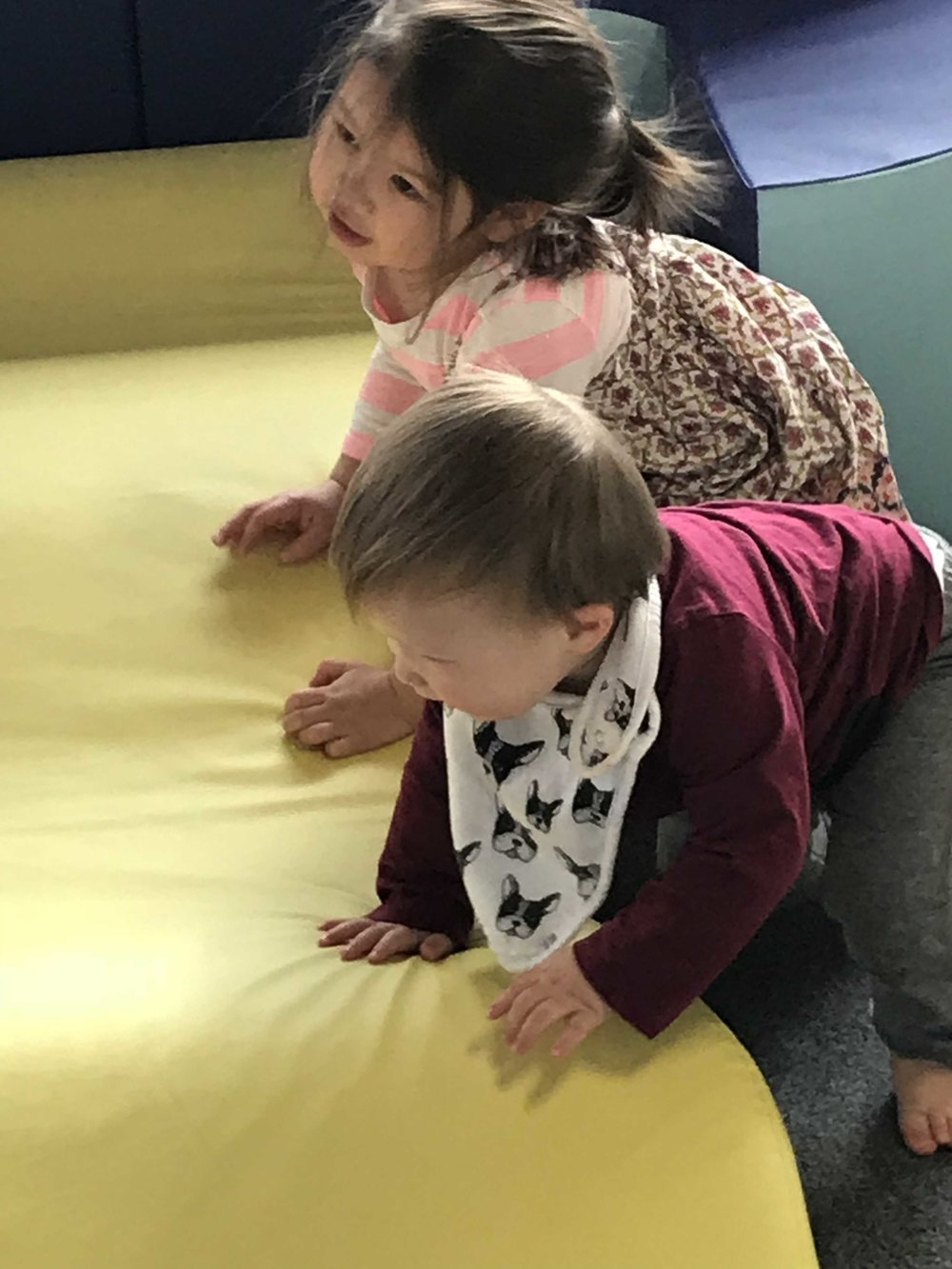 Pre- and early walkers build physical confidence and social skills in the Curry Automotive Toddler Beach