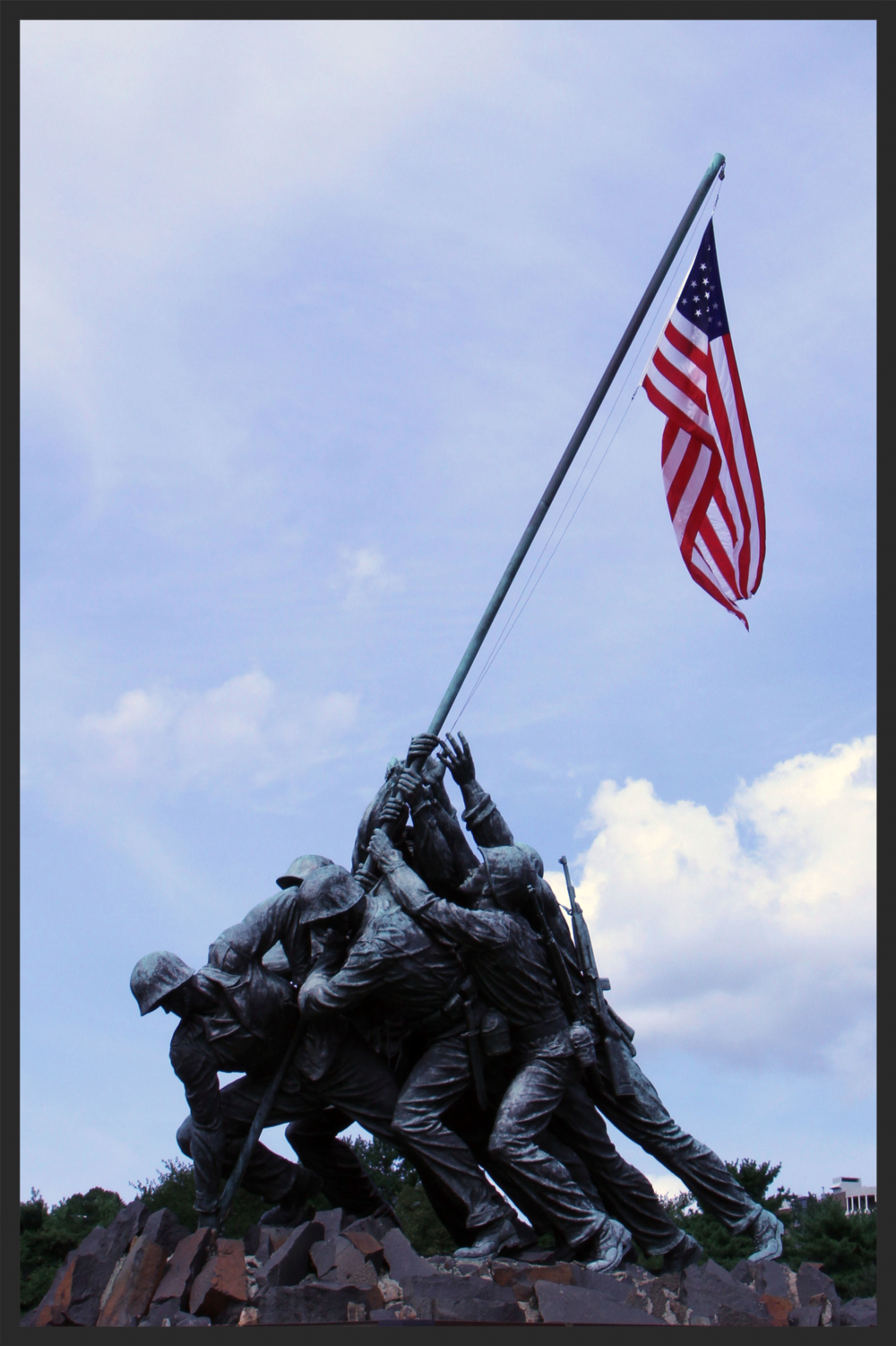 The U.S. Marine Corps War Memorial is an iconic DC area landmark.