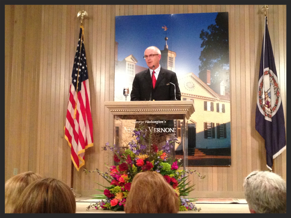Nathaniel Philbrick at last night's Mount Vernon book talk event.