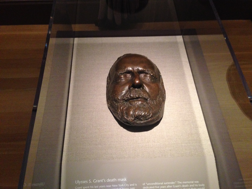 The death mask of Ulysses S. Grant.