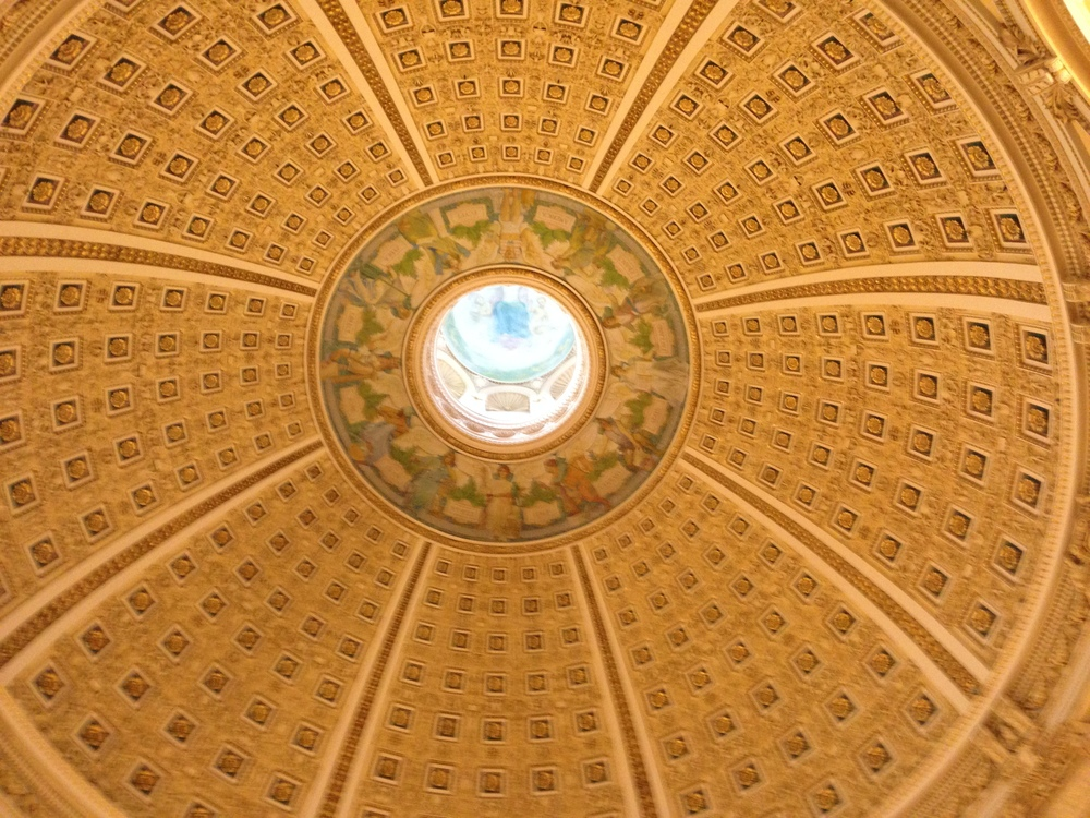The dome inside the main reading room.