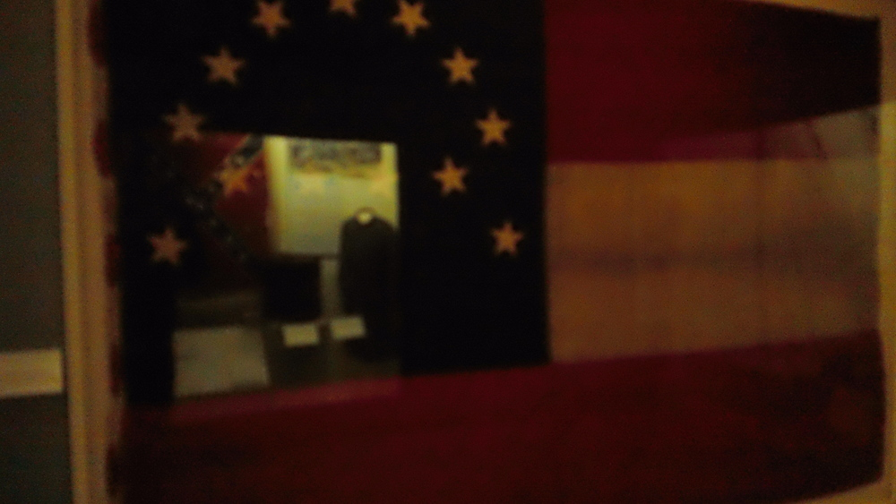 The flag which flew of over Lee's HQ during 1862-63.