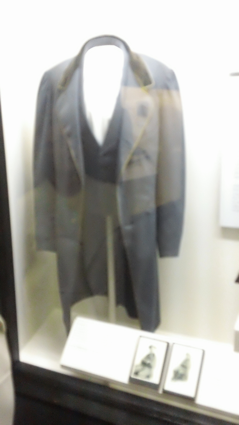 The coat Jefferson Davis was wearing when he was ultimately captured by Federal troops.