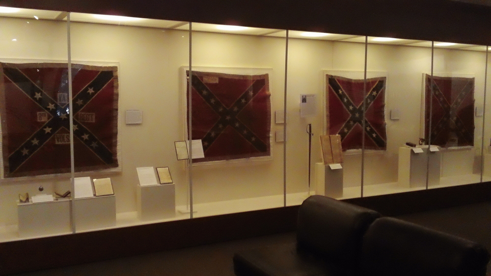 Confederate Battle Flags used during Pickett's Charge. This was quite a powerful display.