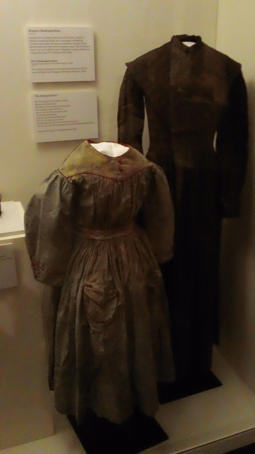 Confederate women had to make do with what they had, and these homespun dresses are the proof.