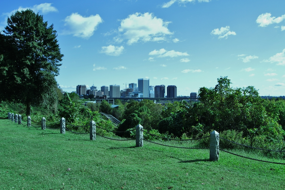 Hollywood Cemetery affords you a beautiful view of Richmond.