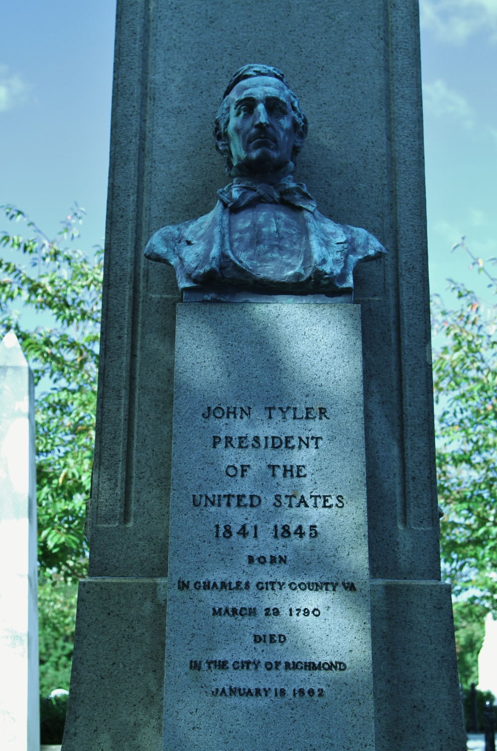 The grave of John Tyler, our tenth president.