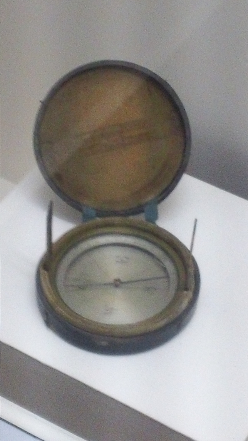 The compass used by Jefferson Davis as he fled Richmond ahead of the Union army.