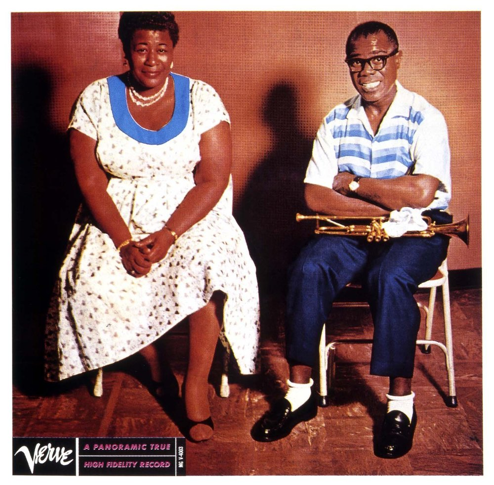 Ella Fitzgerald and Louis Armstrong would record three albums together for Verve records.