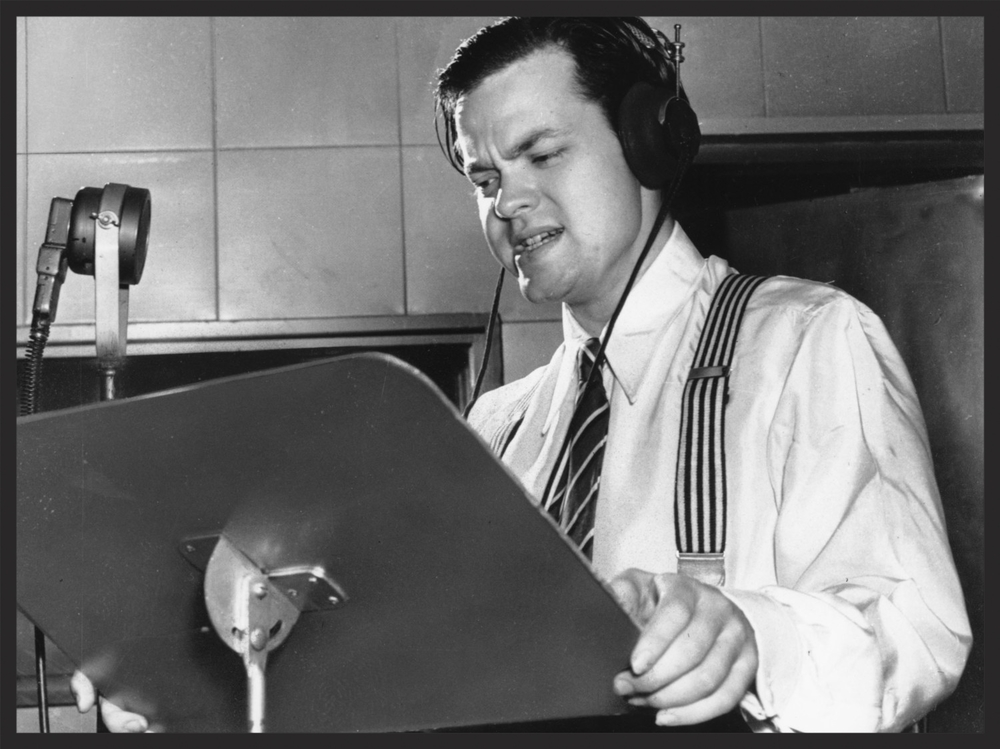 The famed Orson Welles narrated the fateful radio broadcast on Halloween Eve.