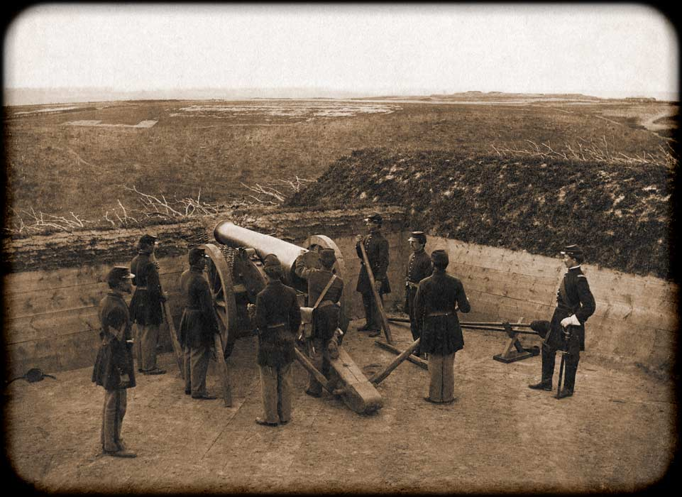 Soldiers of the 34th Massachusetts crewing a cannon - is that you Peter?