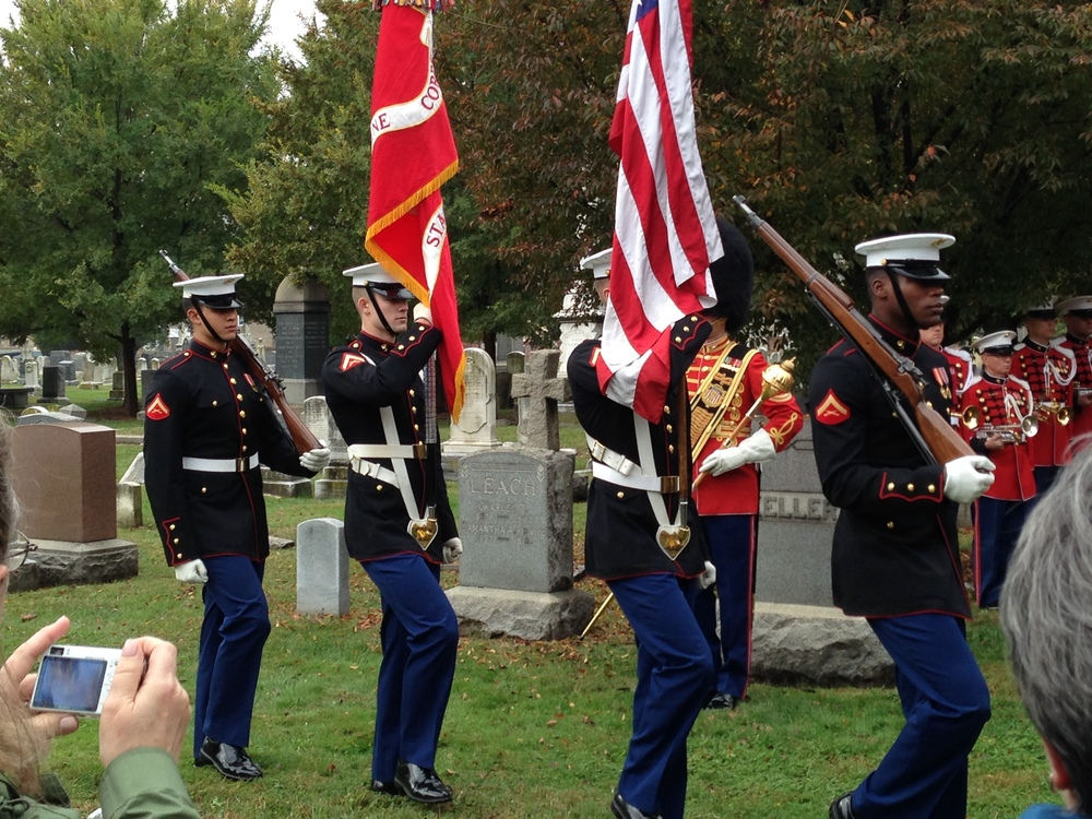 The presentation of the colors.