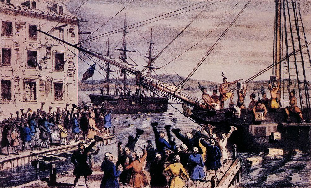 The Boston Tea Party (1773) was a critical moment in the buildup to America's war of independence.