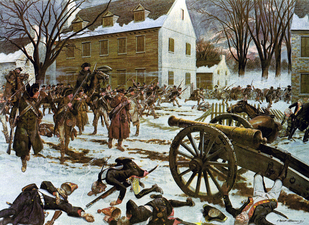 Washington's rag-tag army scores a decisive victory over the Hessian garrison at Trenton.