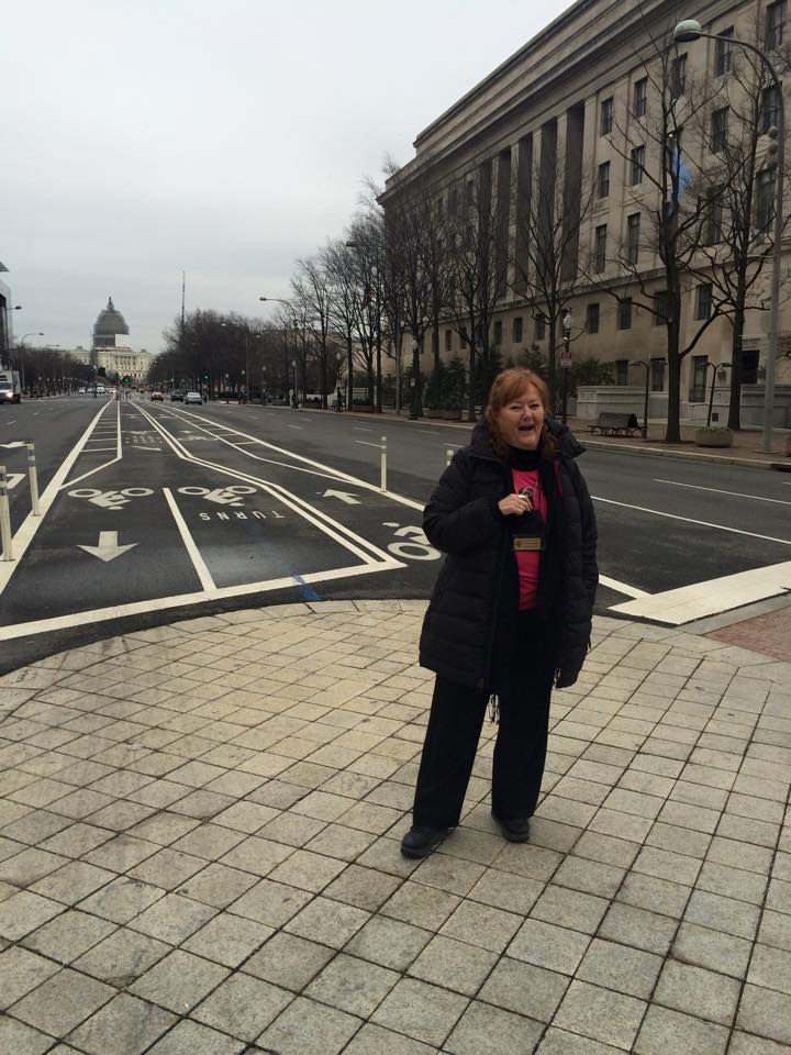 Heidi (a one take wonder) narrates the Pennsylvania Avenue video.