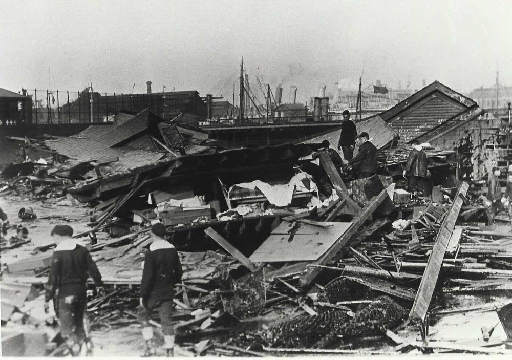 Although the story may sound like something out of a children's tale, the real-life devastation was serious indeed.