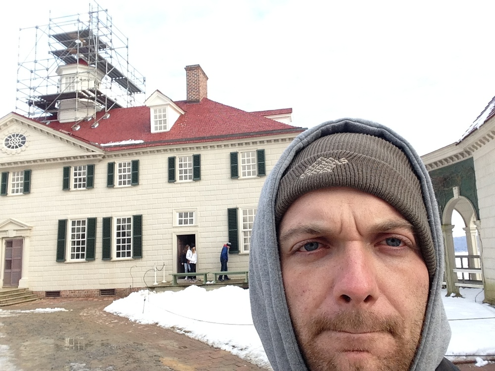 Selfie.  They're doing work on the cupola.